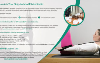 Pilates at Fitness Arts in Palatine, IL